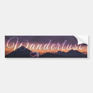 Wanderlust Bumper sticker 2