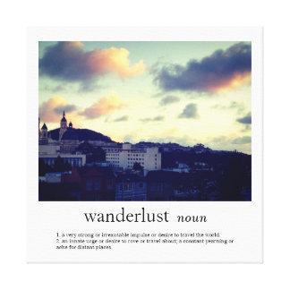 Wanderlust Stretched Canvas Print
