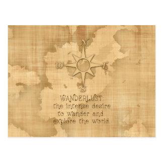 """""""Wanderlust…"""" Cita que viaja en el papel del Postales"""
