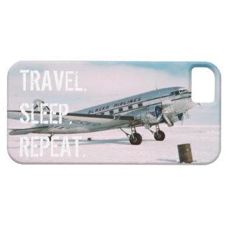 Wanderlust del aeroplano del vintage de la iPhone 5 carcasas