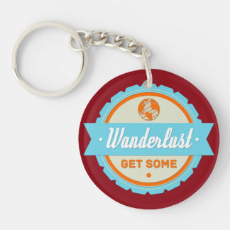 Wanderlust: Get Some Double-Sided Round Acrylic Keychain