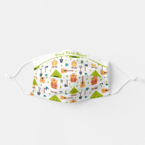 Wanderlust Happy Camping Dreams Pattern Cloth Face Mask