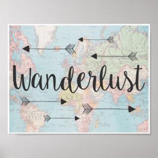 wanderlust posters zazzle
