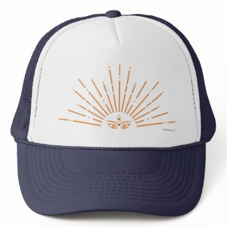 Wanderlust Peacock Trucker Hat