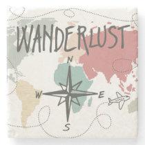 Wanderlust Stone Coaster