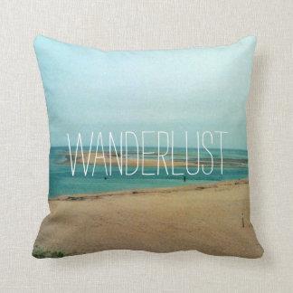 Wanderlust, throw pillow