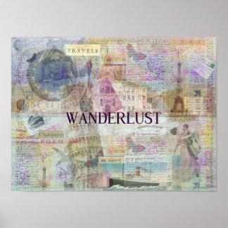 Wanderlust travel art poster