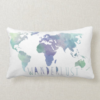 Wanderlust Watercolor Pillow