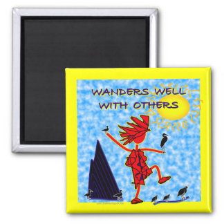 Wanders Well 2 Inch Square Magnet