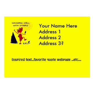 Wanders Well Business Card Template