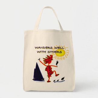 Wanders Well Grocery Tote Bag