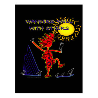 Wanders Well Postcard