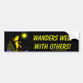 Wanders Well With Others Car Bumper Sticker