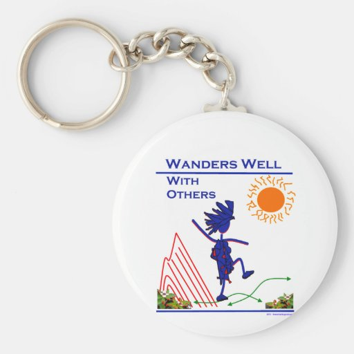 Wanders Well With Others Keychain