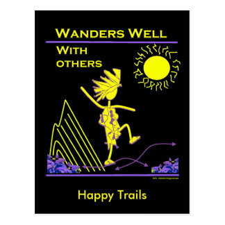 Wanders Well With Others Postcard