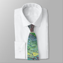 """Wand'ring Bark"" Abstract Tie"
