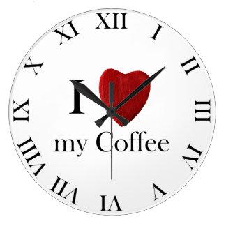 Wanduhr redondo i Coffee love my Reloj Redondo Grande