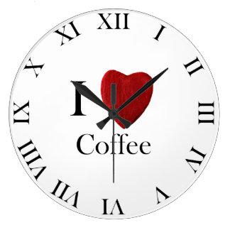 Wanduhr redondo i Coffee love Reloj Redondo Grande