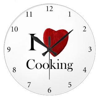 Wanduhr redondo i Cooking love Reloj Redondo Grande