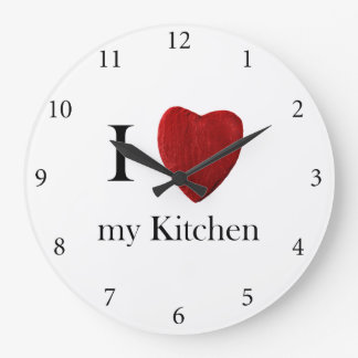 Wanduhr redondo i Kitchen love my Reloj Redondo Grande