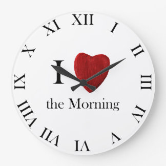 Wanduhr redondo i Morning love the Reloj Redondo Grande