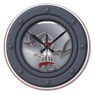 """Wanduhr """"Sea Breeze"""" Bullseye Reloj Redondo Grande"""