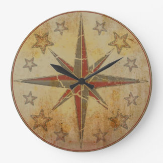 "Wanduhr ""Sea Breeze"" Compass Vintage Reloj Redondo Grande"