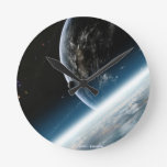 "Wanduhr ""Space Reloj Redondo Mediano"