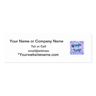 Wango Tango with swirley colors Business Card Template