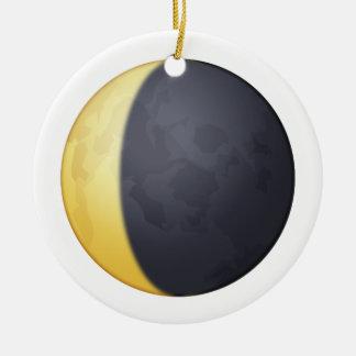 Waning crescent moon - Emoji Ceramic Ornament