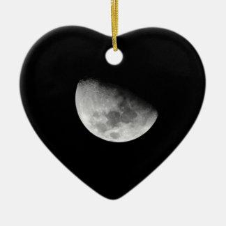 Waning Moon Ceramic Ornament