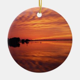 Waning West Ceramic Ornament