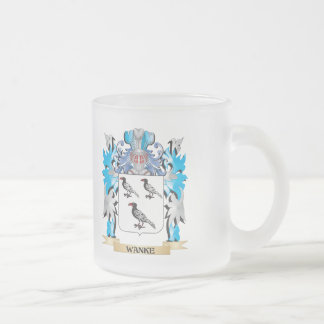Wanke Coat of Arms - Family Crest Frosted Glass Mug