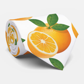 Wanna a delicious orange juice? Oreange yellow Neck Tie