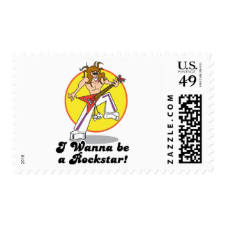 wanna be a rockstar postage stamps