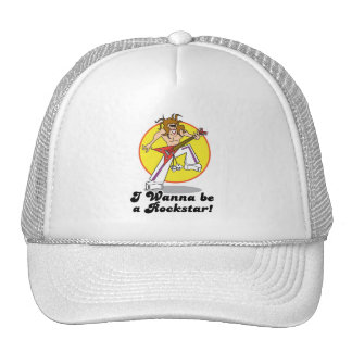wanna be a rockstar trucker hat