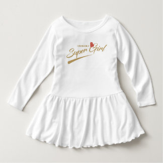 wanna be a supergirl baby dress