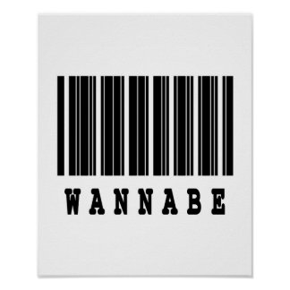 wanna be barcode design poster