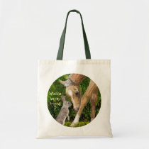 Wanna be my friend? Bunny & Foal tote bag