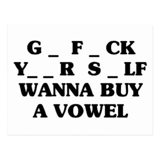 Wanna Buy A Vowel Postcard