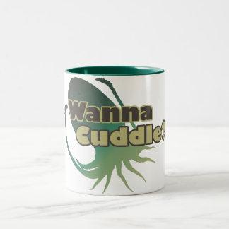 Wanna Cuddle Cuttlefish Two-Tone Coffee Mug