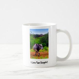 Wanna Dance? (Two-Stepping Zebu Cow) Coffee Mug