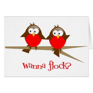 Wanna Flock? Greeting Card