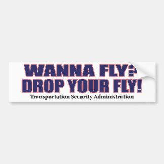 Wanna-Fly Bumper Sticker