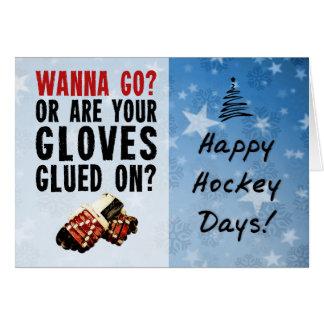 Wanna Go Enforcer Hockey Christmas Card