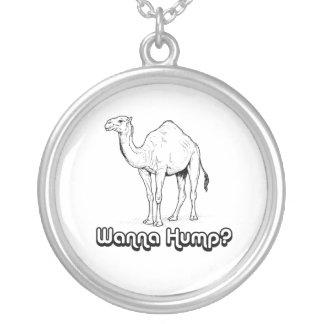 Wanna Hump - Round Pendant Necklace