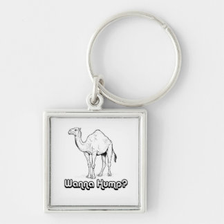 Wanna Hump - Silver-Colored Square Keychain