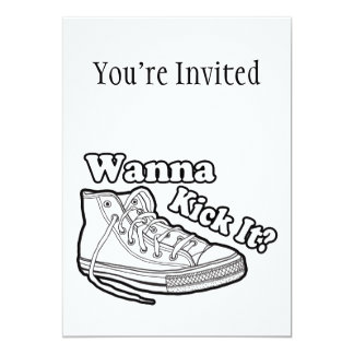 Wanna Kick It Sneakers Card