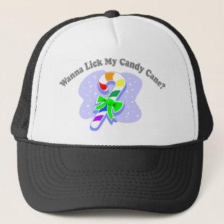 Wanna Lick My Candy Cane? (Rainbow Candy Cane) Trucker Hat