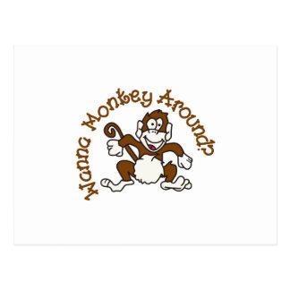 Wanna Monkey Around? Postcard